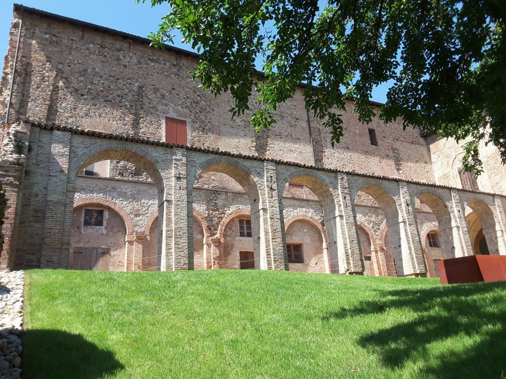 Il cortile interno della Rocca dei Boiardo a Scandiano