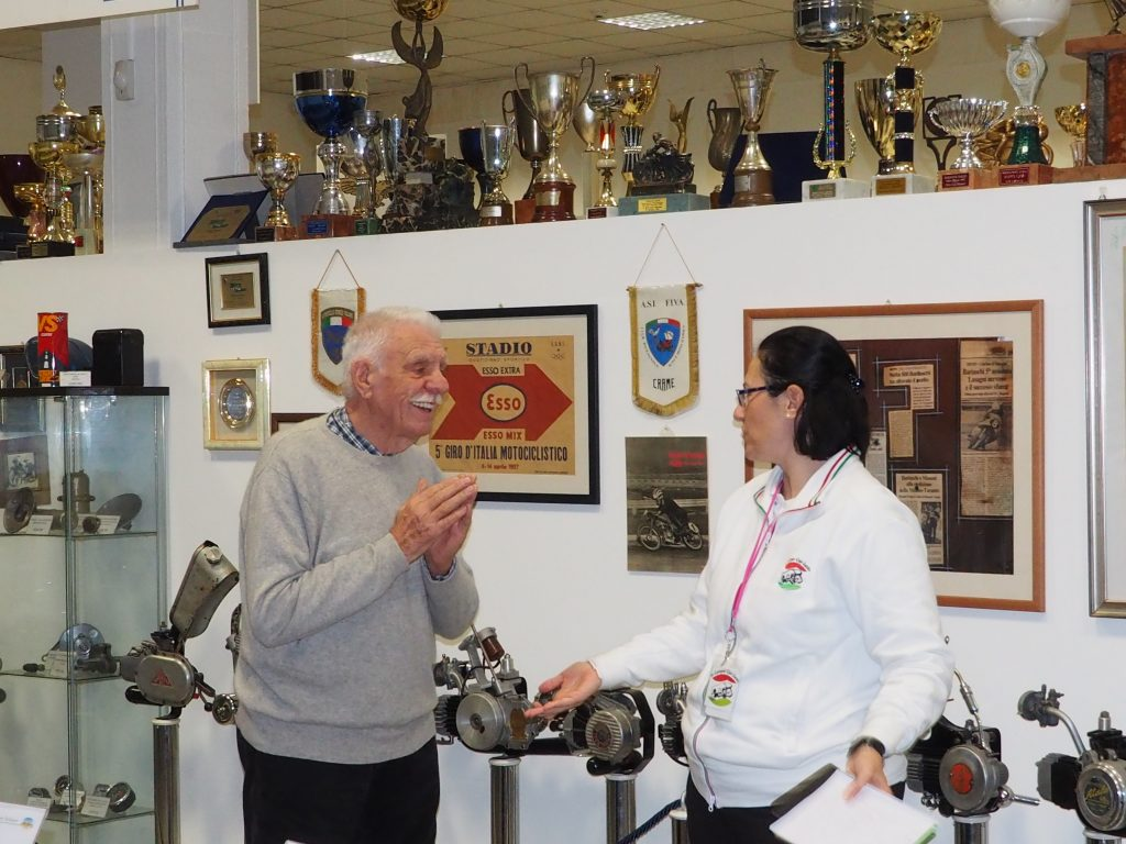 Monica and Emilio Bariaschi visiting his Motorcycle Museum