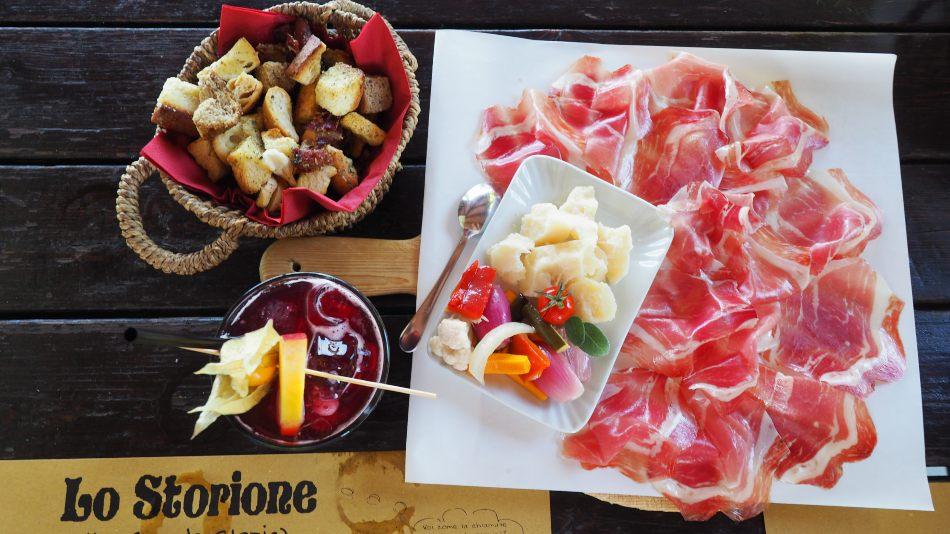 L'aperitivo dello Storione - mangiare piatti tipici