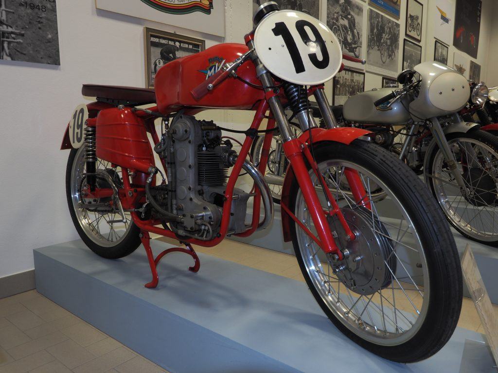 MV Agusta 125 single mast at the Piccolo Museo della Moto Bariaschi