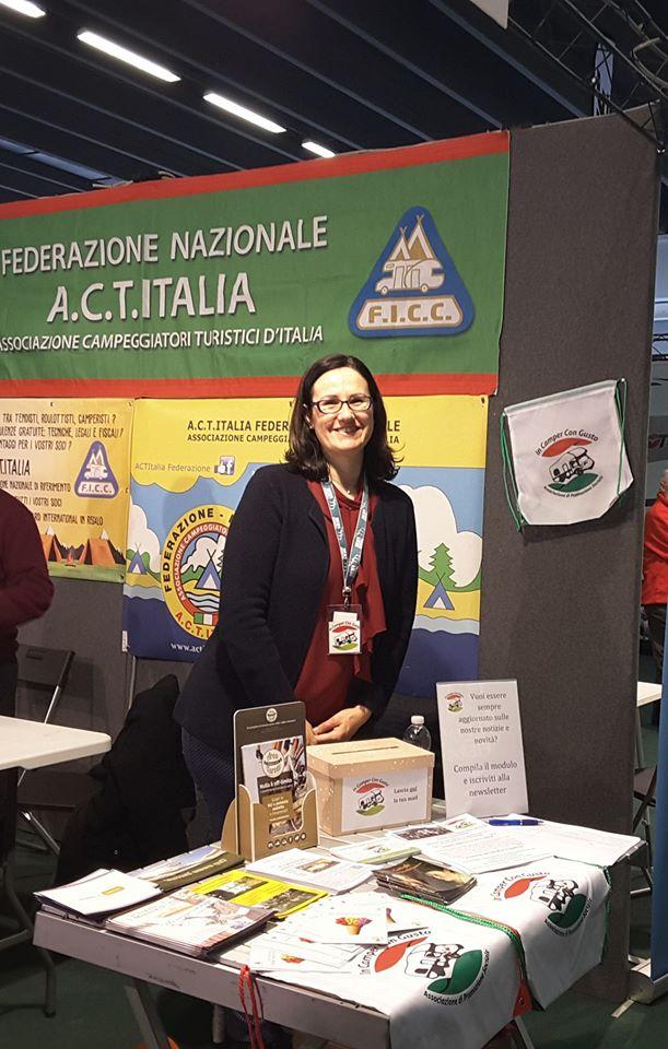 Monica in Fiera a Ferrara assieme ad Acti Italia