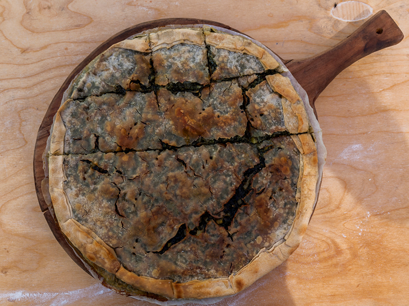 torte in camper: la torta d'erbi dell'Appennino