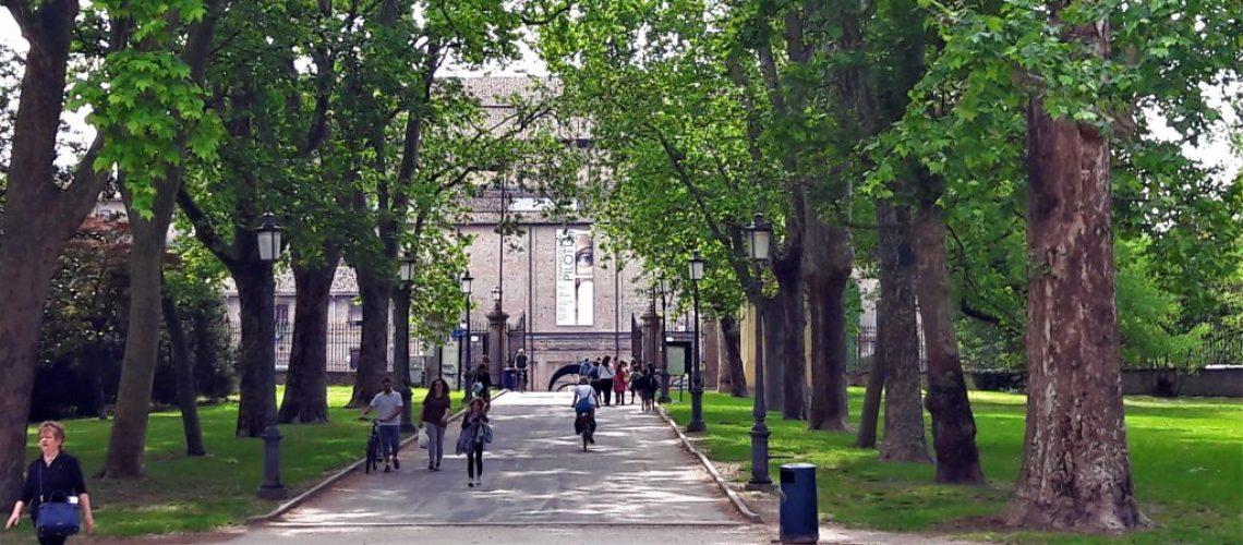 Parco Ducale in biciletta