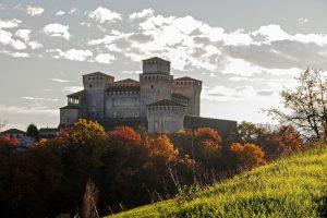 in camper al castello di Torrechiara