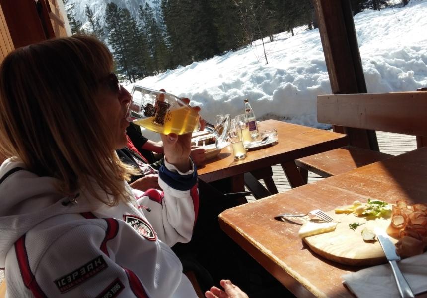 andiamo a sciare in camper per degustare i piatti